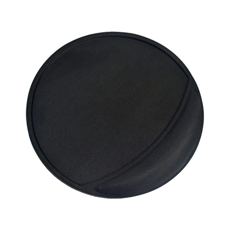 Ergonomic Mouse Pad with Gel Wrist Rest Support, Lycra Covering and Non-Slip PU Base (Black)