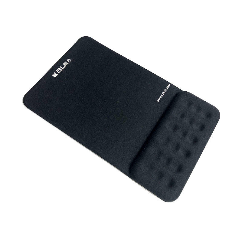 Office ergonomic Mouse Pad with Gel Wrist Pad, black