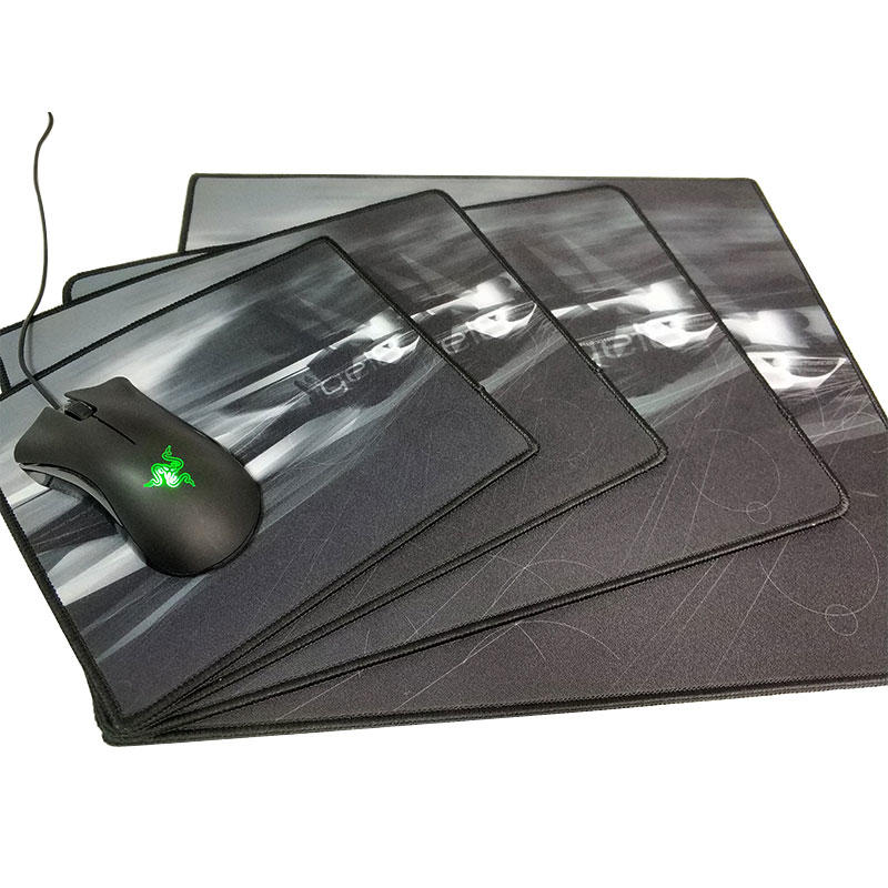 Customized size and pattern gaming mouse pad stitching edge for anti-fray heat print mouse pad