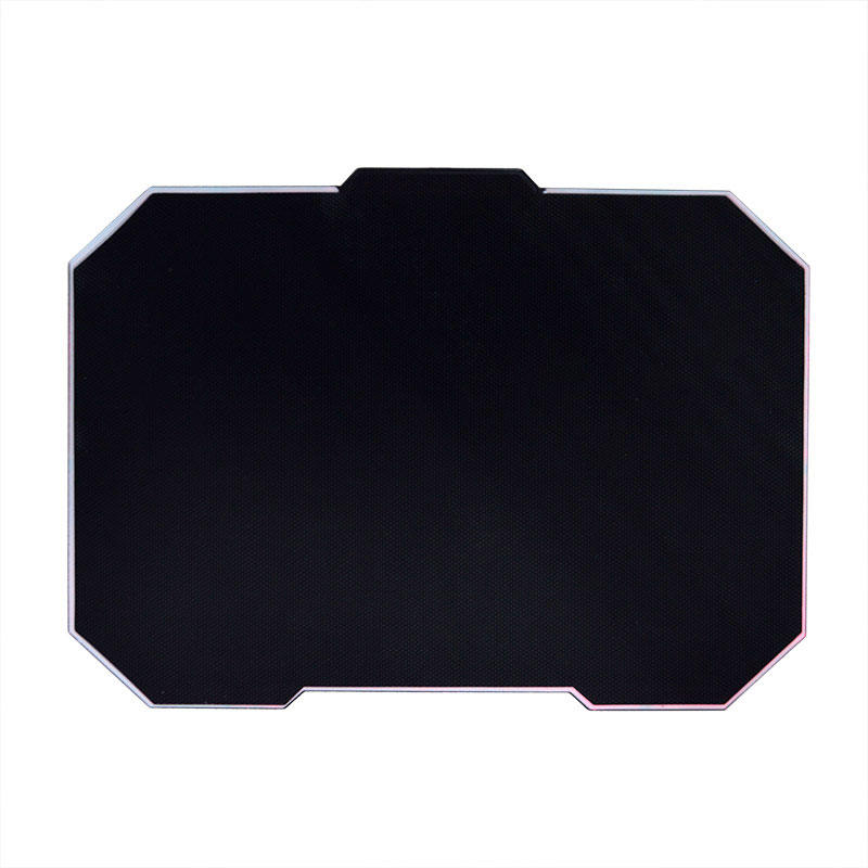 Aluminum LED Gaming Mouse Pad - Large USB Black Hard Mousepad with RGB Chroma Lighting Effects