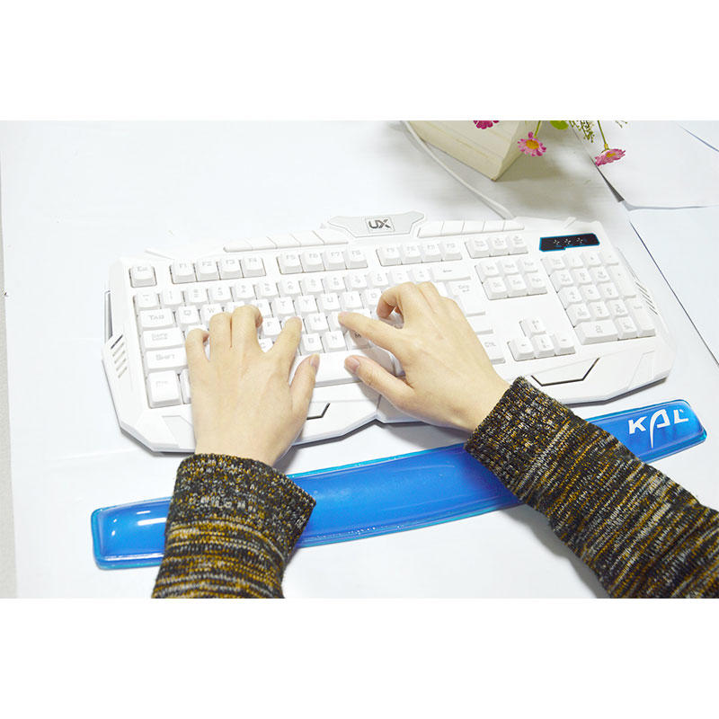 Soft Silicone Keyboard Wrist Rest Support Pad, Transparent Anti-slip Anti-Fatigue Keyboard Wrist
