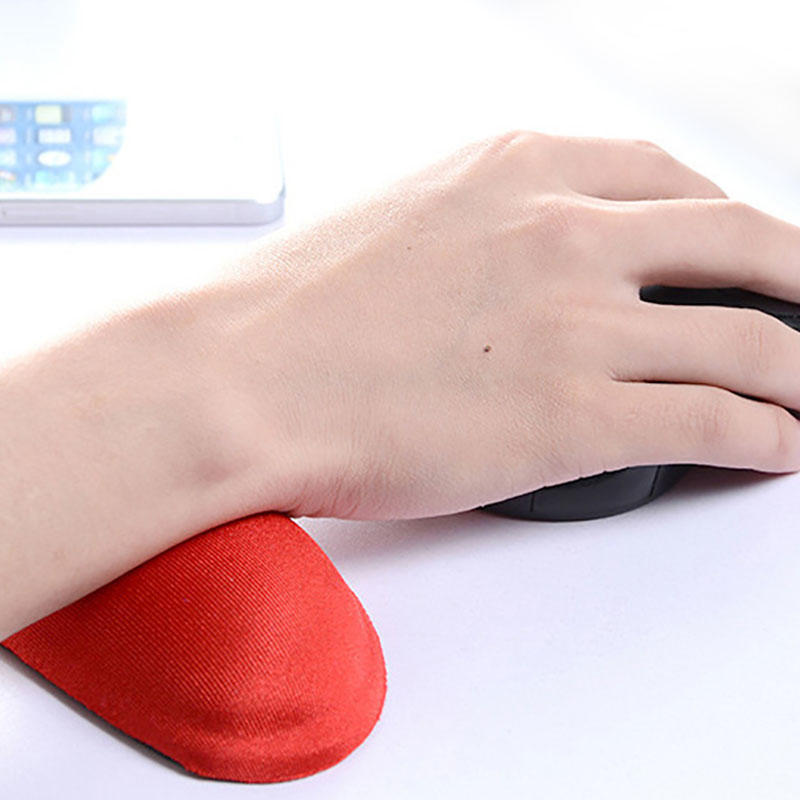 Little wrist rest mini soft fluffy cushion black for office gel filled hand support for using mouse