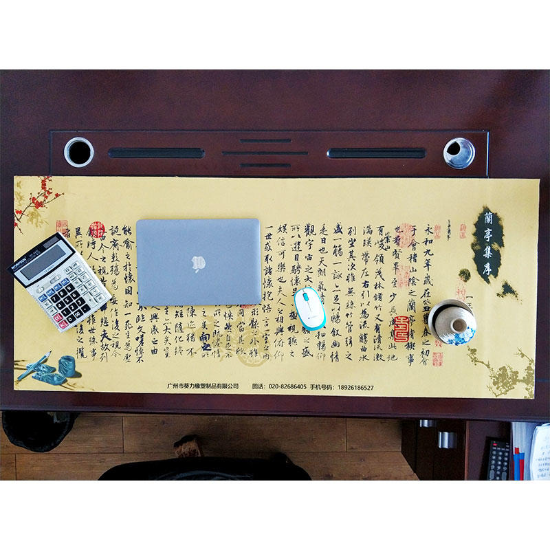 Oversized desk pad office desk mat customize sublimation printing desk pad china boss desk pad