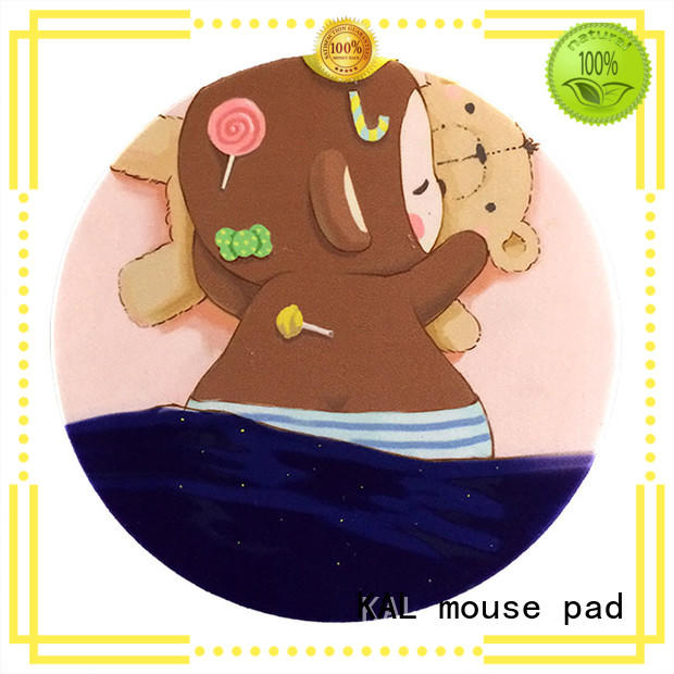 comfortable gaming round mouse pads KAL manufacture