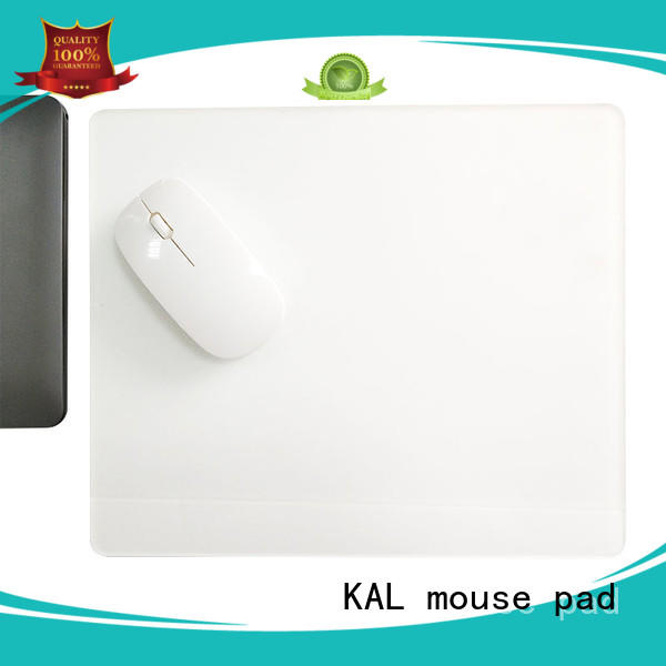 blue light white KAL Brand microfiber mouse pad manufacture