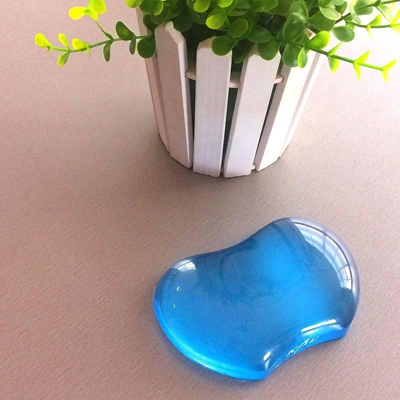 KLW-4027T Silicone Gel Wrist Rest  Translucence Heart-shaped Ergonomic Mouse Pad