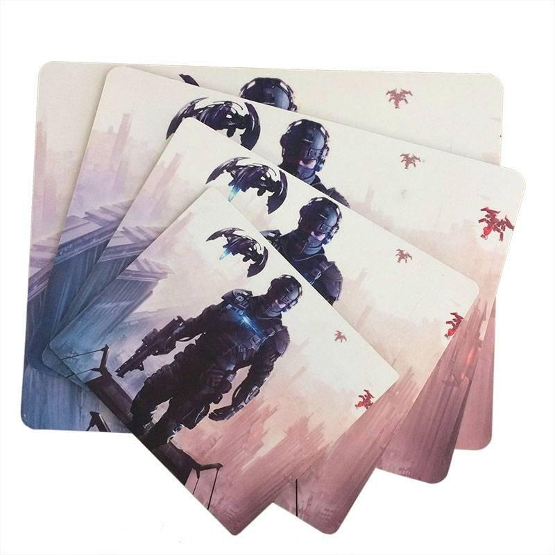 Coated game cloth mouse desk mat