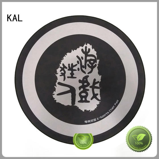 KAL quality Gaming chair floor mat free sample for gamer