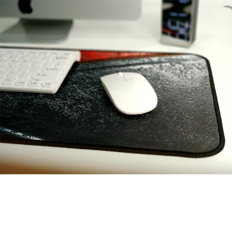 Gaming Mouse Pad Non-Slip Waterproof Rubber Base with Stitched Edges for PC Laptop Computer