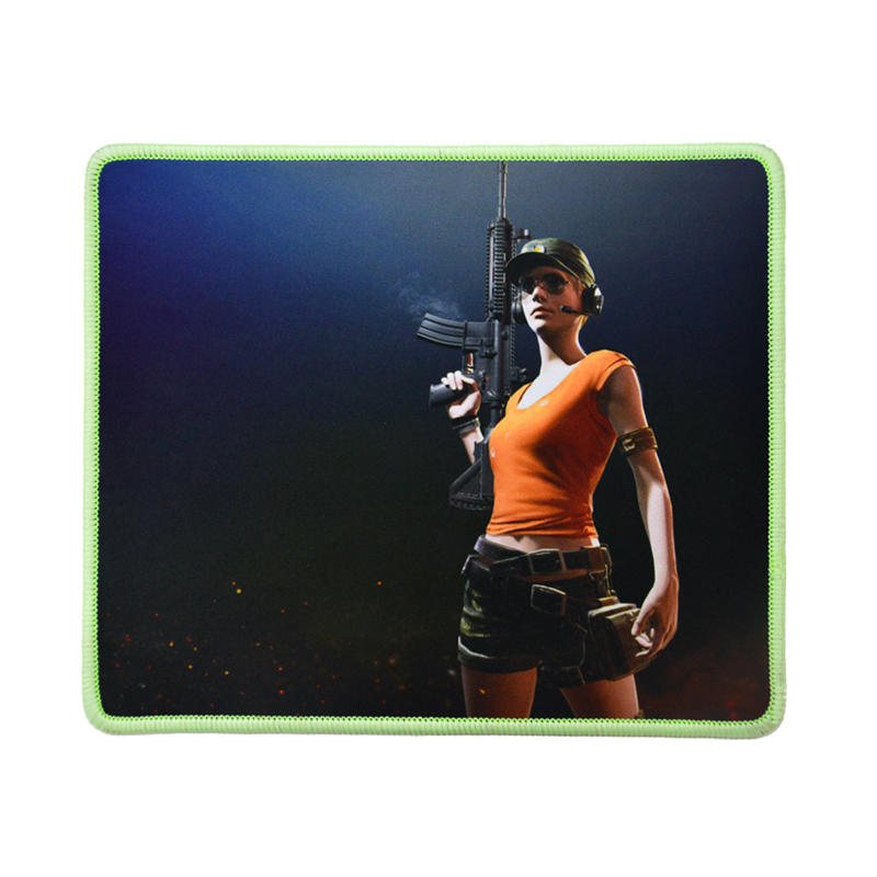 Luminous gaming mouse pad, Luminous stitched edge cool gaming mouse pad,Rubber base with smooth fabric top