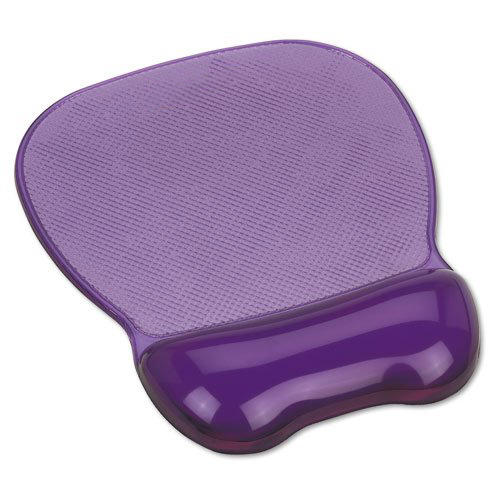 Crystal gel mouse pad with wrist rest, PVC top with gel filled hand pillow, soft gel pad