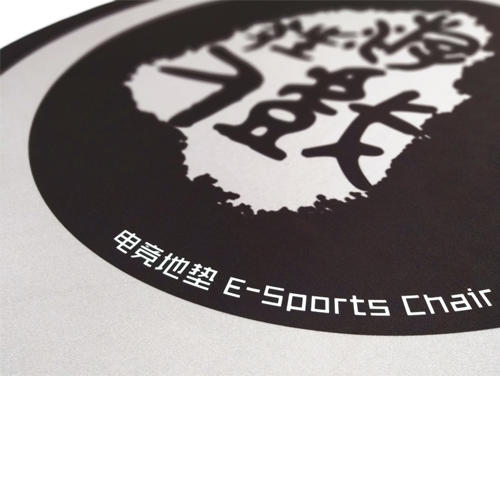 E-sport chair mat with rubber bottom ideal for floor protections high quality gaming chair mat without curling up over time