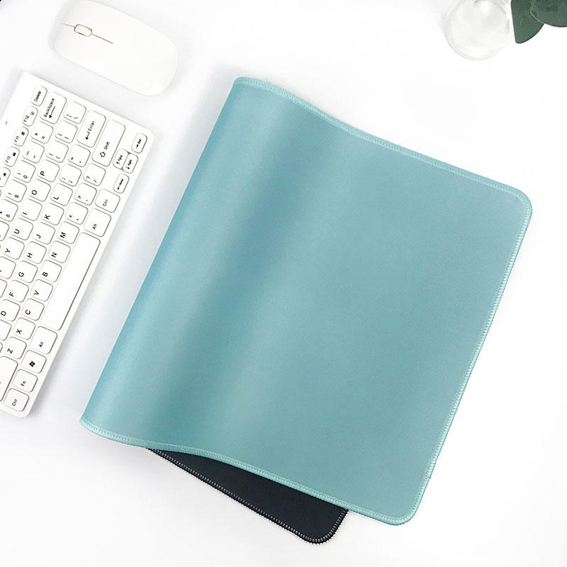 Light blue fresh color desk pad office brief desk top mouse pad 800*300*3mm desk mat