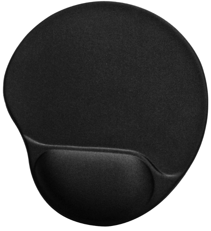 Large Mouse Pad With Gel Wrist Rest, Silk Fabric Surface and Non-Skid PU Base