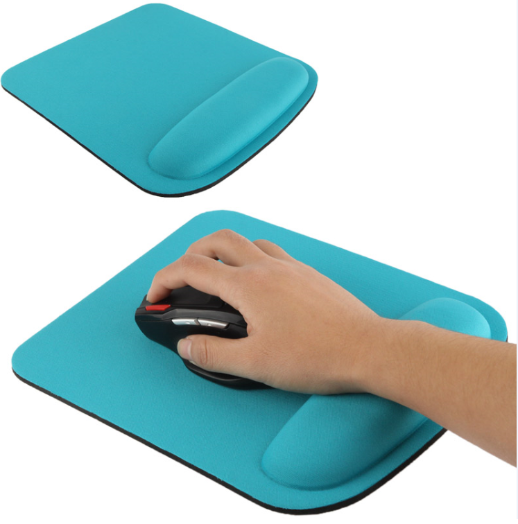 Memory Foam Filled Nature Rubber Base Wrist Rest  mouse pad