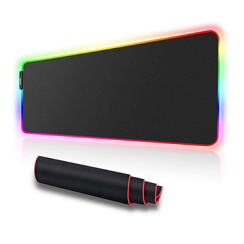 Soft Rubber LED Backlit RGB Big Size Custom Printed Blank Gaming Mouse Pad