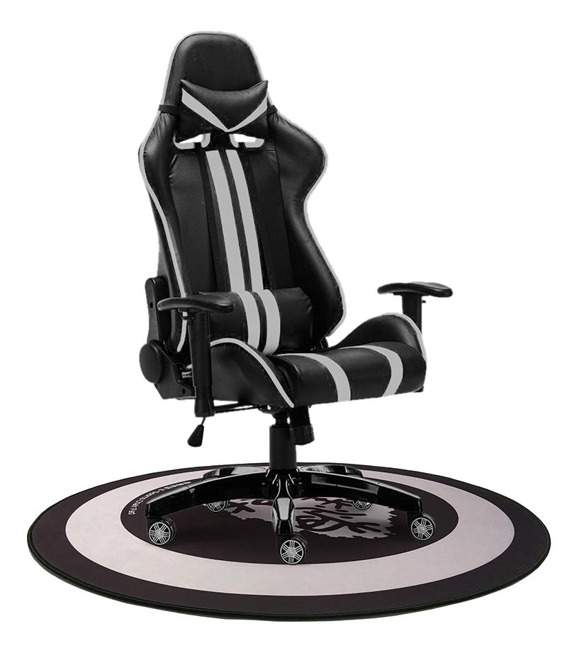 Custom design extend non-slip waterpoof easier clean E-sport gaming chair mat