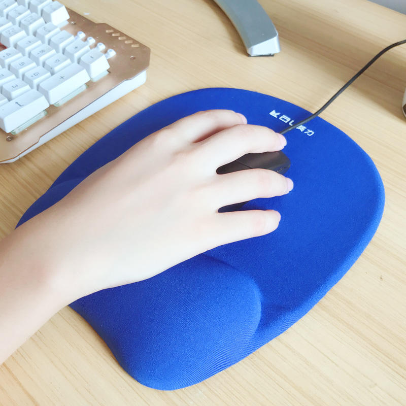 Customized Advertising Memory foam filled Wrist rest mouse pad