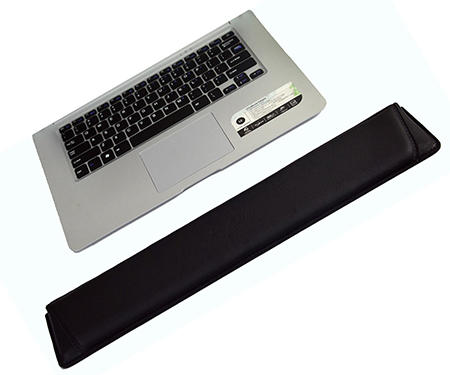 Durable practical style PU leather classical mouse pad, high quality keyboard pad with armrest