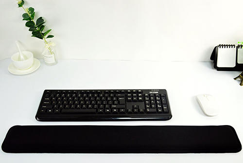 Hot selling extended comfortable arm rest mouse pad ergonomic keyboard long pillow hand rest cushion for office, home, laptop