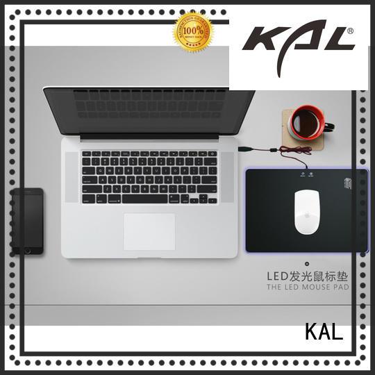 aluminum led mouse pads OEM for gamer KAL