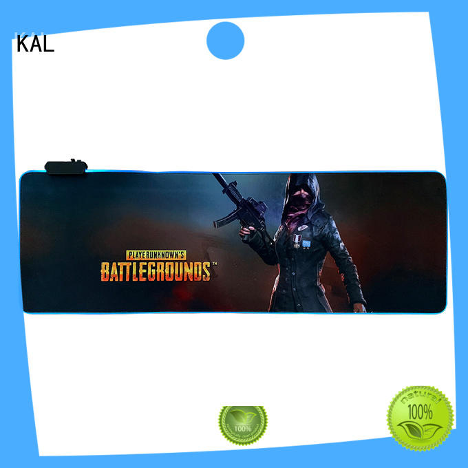 KAL solid mesh desk size mouse pad bulk production for gaming