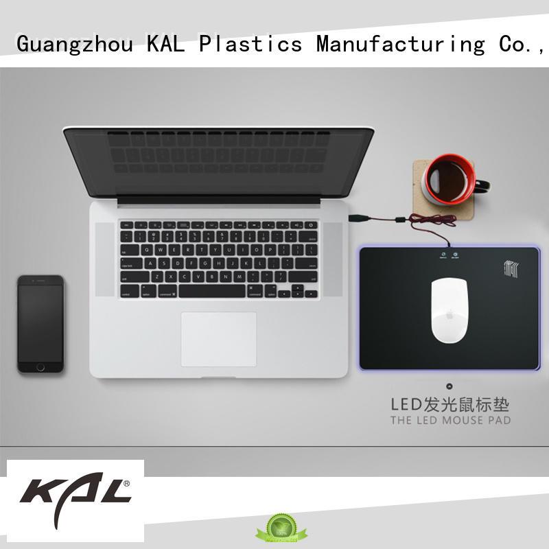 KAL led plastic mouse mat customization for gamer