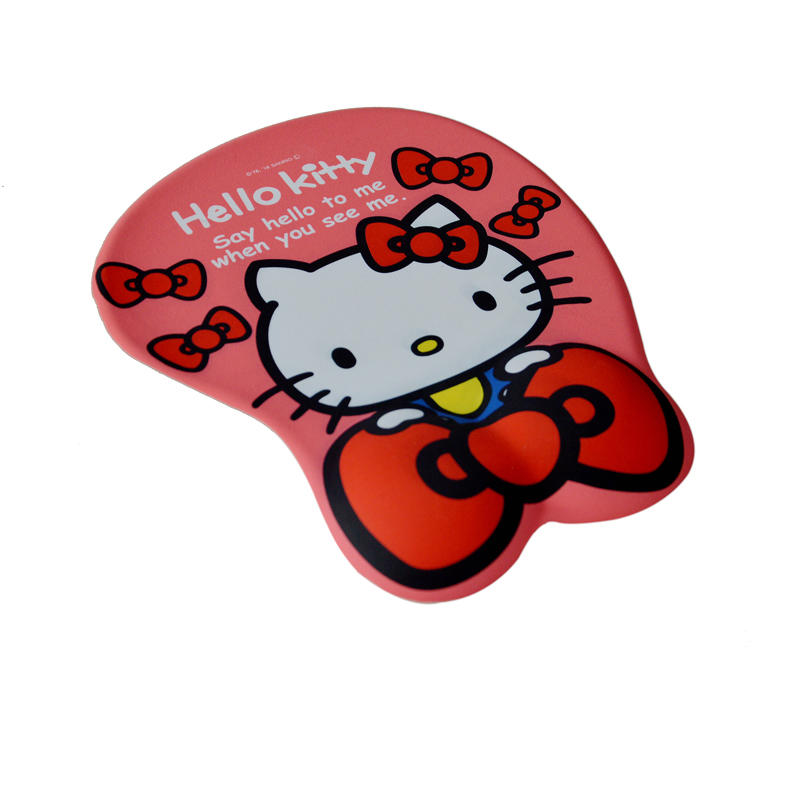 Hello Kitty 3D Mouse Pad Ergonomic Soft Silicon Gel  Mouse  pad with Wrist Support Cute Hello Kitty Mouse Mat for Girls