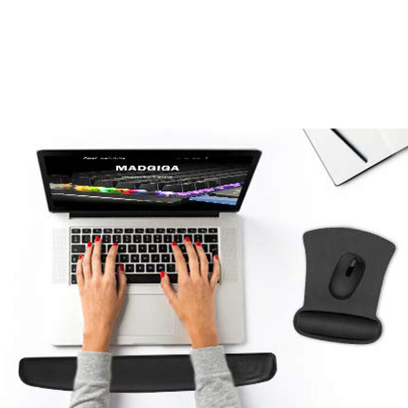 Ergo Foam Mouse Pad With Wrist Rest Rubber Base Foldable mouse pad