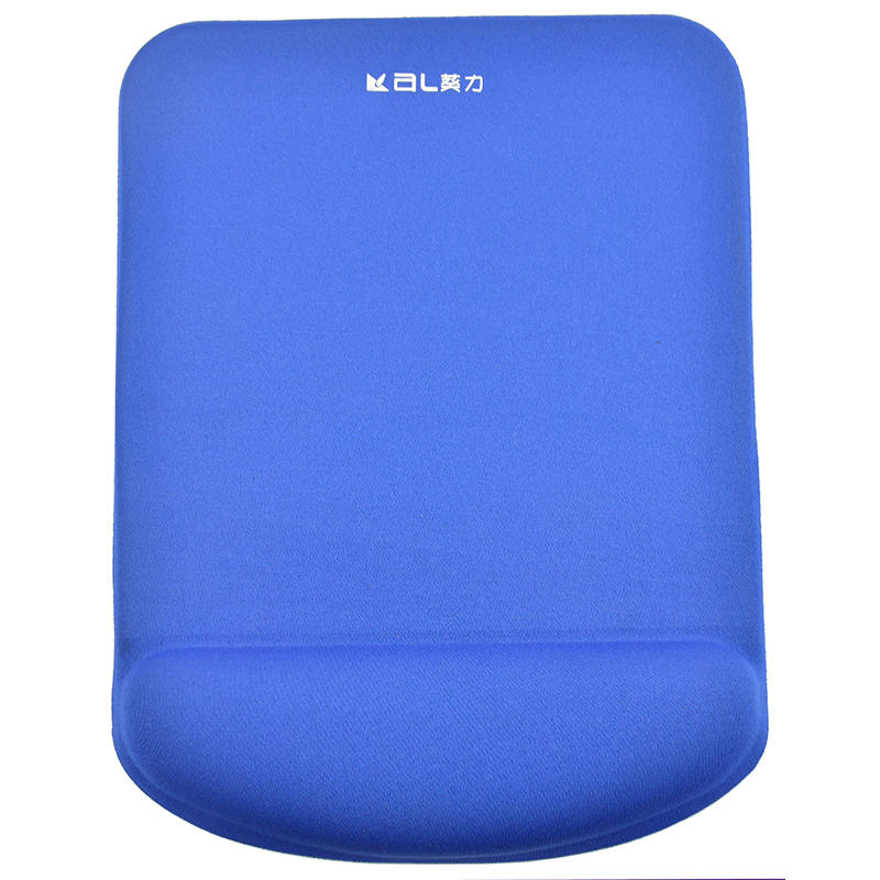 Custom Big Size Blue Cloth Mouse Pad With Gel Wrist Rest Anti-slip base
